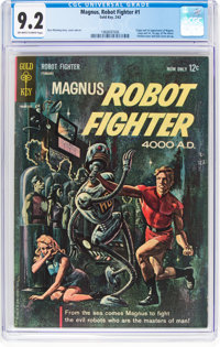 Magnus Robot Fighter #1 (Gold Key, 1963) CGC NM- 9.2 Off-white to white pages