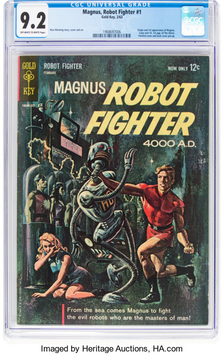 Magnus Robot Fighter #1 (Gold Key, 1963) CGC NM- 9.2 Off-white to white pages....