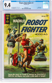 Magnus Robot Fighter #2 (Gold Key, 1963) CGC NM 9.4 Off-white to white pages