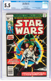 Star Wars #1 35¢ Price Variant (Marvel, 1977) CGC FN- 5.5 White pages