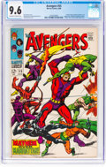 Silver Age (1956-1969):Superhero, The Avengers #55 (Marvel, 1968) CGC NM+ 9.6 Off-white to whitepages....