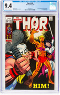 Silver Age (1956-1969):Superhero, Thor #165 (Marvel, 1969) CGC NM 9.4 Off-white to white pages....