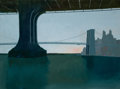 Post-War & Contemporary:Contemporary, Arthur Morris Cohen (b. 1928). Brooklyn Bridge, 2002. Oil oncanvas. 29-3/4 x 39-3/4 inches (75.6 x ...
