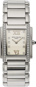 Timepieces:Wristwatch, Patek Philippe, Ref: 4910/010,Lady's Twenty-4 Stainless Steel , Circa 2003. ...
