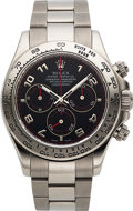 Timepieces:Wristwatch, Rolex, Oyster Perpetual Cosmograph Daytona, 18K White Gold, Ref.116509, Circa 2005. ...