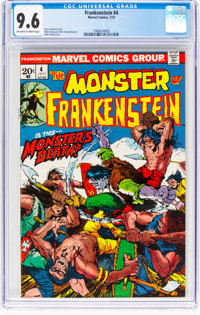 Frankenstein #4 (Marvel, 1973) CGC NM+ 9.6 Off-white to white pages