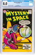 Silver Age (1956-1969):Science Fiction, Mystery in Space #49 (DC, 1959) CGC VF 8.0 Off-white to white pages....