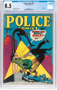 Police Comics #27 (Quality, 1944) CGC VF+ 8.5 Cream to off-white pages