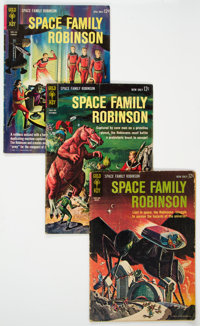 Space Family Robinson Group of 15 (Gold Key, 1963-67) Condition: Average VG-