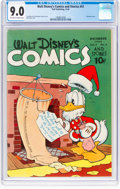 Golden Age (1938-1955):Cartoon Character, Walt Disney's Comics and Stories #51 (Dell, 1944) CGC VF/NM 9.0 Off-white to white pages....