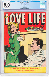 My Love Life #12 (Fox Features Syndicate, 1950) CGC VF/NM 9.0 Off-white pages