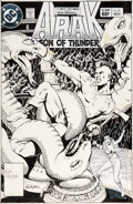 Original Comic Art:Covers, Ron Randall Arak Son of Thunder #27 Cover Original Art (DC, 1983)....