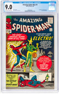 Silver Age (1956-1969):Superhero, The Amazing Spider-Man #9 (Marvel, 1964) CGC VF/NM 9.0 Off-white to white pages....