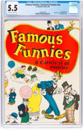 Platinum Age (1897-1937):Miscellaneous, Famous Funnies: A Carnival of Comics #nn (Eastern Color, 1933) CGC FN- 5.5 Off-white to white pages....