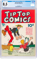Platinum Age (1897-1937):Miscellaneous, Tip Top Comics #17 (United Feature Syndicate, 1937) CGC VF+ 8.5Off-white pages....
