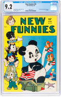 Golden Age (1938-1955):Funny Animal, New Funnies #76 (Dell, 1943) CGC NM- 9.2 Off-white to whitepages....
