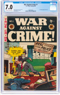 Golden Age (1938-1955):Crime, War Against Crime #1 (EC, 1948) CGC FN/VF 7.0 Off-white to white pages....