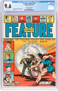 Golden Age (1938-1955):Miscellaneous, Feature Comics #64 Mile High Pedigree (Quality, 1943) CGC NM+ 9.6 White pages....