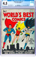 Golden Age (1938-1955):Superhero, World's Best Comics #1 (DC, 1941) CGC VG+ 4.5 Cream to off-white pages....