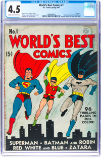 World's Best Comics #1 (DC, 1941) CGC VG+ 4.5 Cream to off-white pages