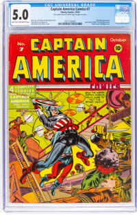 Captain America Comics #7 (Timely, 1941) CGC VG/FN 5.0 Light tan to off-white pages