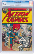 Golden Age (1938-1955):Superhero, Action Comics #96 (DC, 1946) CGC NM+ 9.6 Off-white to white pages....
