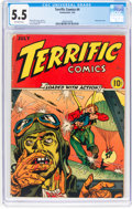 Golden Age (1938-1955):War, Terrific Comics #4 (Continental Magazines, 1944) CGC FN- 5.5 Off-white pages....