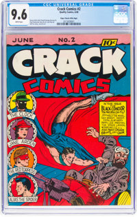 Crack Comics #2 Mile High Pedigree (Quality, 1940) CGC NM+ 9.6 White pages