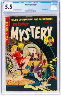Mister Mystery #6 (Aragon, 1952) CGC FN- 5.5 White pages