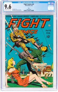 Fight Comics #42 Ohio Pedigree (Fiction House, 1946) CGC NM+ 9.6 Off-white to white pages