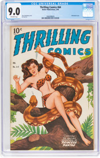 Thrilling Comics #64 (Better Publications, 1948) CGC VF/NM 9.0 Off-white pages