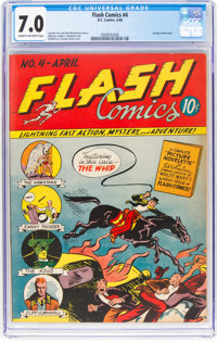 Flash Comics #4 (DC, 1940) CGC FN/VF 7.0 Cream to off-white pages