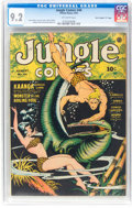 "Golden Age (1938-1955):Adventure, Jungle Comics #44 Davis Crippen (""D"" Copy) Pedigree (Fiction House, 1943) CGC NM- 9.2 Off-white pages...."