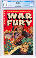 Golden Age (1938-1955):War, War Fury #1 (Comic Media, 1952) CGC VF- 7.5 Cream to off-white pages....