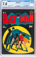 Golden Age (1938-1955):Superhero, Batman #9 (DC, 1942) CGC FN/VF 7.0 Off-white to white pages....