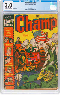 Champ Comics #23 (Harvey, 1942) CGC GD/VG 3.0 Off-white to white pages