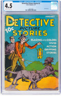 Platinum Age (1897-1937):Miscellaneous, Detective Picture Stories #2 (Comics Magazine, 1937) CGC VG+ 4.5Cream to off-white pages....