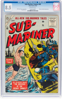 Sub-Mariner Comics #40 (Atlas, 1955) CGC VF+ 8.5 Off-white pages