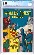 Golden Age (1938-1955):Superhero, World's Finest Comics #28 (DC, 1947) CGC VF/NM 9.0 Off-white to white pages....