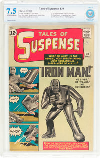 Tales of Suspense #39 (Marvel, 1963) CBCS VF- 7.5 Off-white to white pages