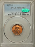Lincoln Cents, 1952-S 1C MS67+ Red PCGS. CAC....