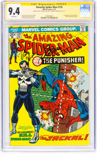 The Amazing Spider-Man #129 Signature Series (Marvel, 1974) CGC NM 9.4 White pages