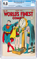 Golden Age (1938-1955):Superhero, World's Finest Comics #20 (DC, 1945) CGC VF/NM 9.0 Off-white to white pages....