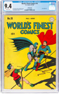 Golden Age (1938-1955):Superhero, World's Finest Comics #19 Crowley Copy Pedigree (DC, 1945) CGC NM 9.4 Off-white pages....