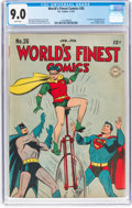 Golden Age (1938-1955):Superhero, World's Finest Comics #26 (DC, 1947) CGC VF/NM 9.0 White pages....