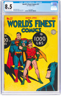 World's Finest Comics #27 (DC, 1947) CGC VF+ 8.5 Off-white to white pages