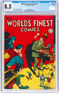 World's Finest Comics #31 (DC, 1947) CGC VF+ 8.5 Off-white to white pages