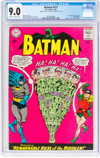 Batman #171 Double Cover (DC, 1965) CGC VF/NM 9.0 Off-white to white pages