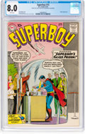 Silver Age (1956-1969):Superhero, Superboy #73 (DC, 1959) CGC VF 8.0 White pages....