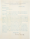 Autographs:Letters, 1895 Luther H. Gulick Typed Signed Letter With Basketball Content from The Mable Welton Collection - One of Only Three Known E...